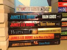 6 James Lee Burke Novels, Hardcover, Paperback, Set, First Editions, Used