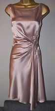 New Karen Millen 10 Luxury Satin Draped Wedding Races Cruise Shift Dress £165