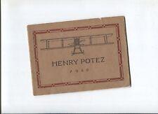 N°5187 / catalogue des avions Henry POTEZ 1920