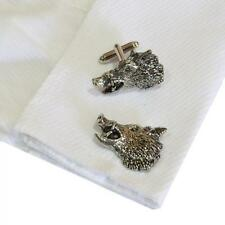 Pewter Boars Head CUFFLINKS Pig Swine Butcher Party Christmas Present GIFT Box