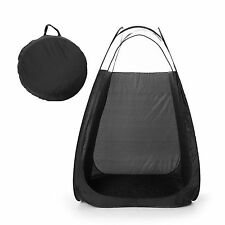 Black Pop Up Spray Tanning Tent Airbrush Sunless Tan Booth Carry Bag Portable