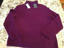 New Charter Club Luxury 100% Cashmere Women's Sweater Turtle Neck Size XL NWT