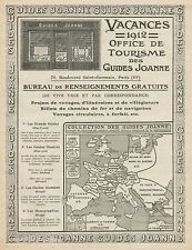 Y9581 Guides JOANNE - Pubblicità d'epoca - 1912 Old advertising