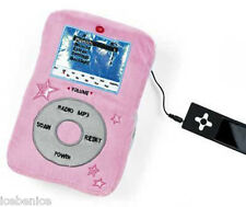 Peluche Rosa Mp3 Cojín-Altavoz & independiente de radio para tu reproductor de Mp3 O Ipod