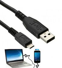 1.8m USB to Micro USB 5 Pin Data Charge Cable Lead For PC Laptop Mobile Phones