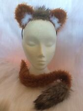 Chestnut Lion Ears & Tail With Mini Mane Ginger Lion Dress Up Set Fancy Dress