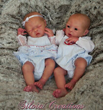 Prototype SILVIA CREATIONS Reborn Twin Babies Eli and Tobi Donnelly--Perfection!