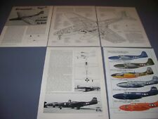 VINTAGE..BELL P-59A AIRACOMET..3-VIEWS/SPECS/CUTAWAY/PROFILES...RARE! (62F)