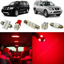 7x Red LED lights interior package kit for 2005-2012 Nissan Pathfinder NP1R