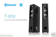 F&D T60X 2.0 Bluetooth Tower Woofer speaker with USB/SD/FM/REMOTE- BROWN