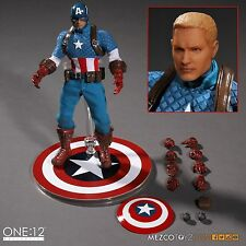 MEZCO ONE:12 COLLECTIVE MARVEL CAPTAIN AMERICA 1:12 FIGURE ~BRAND NEW~