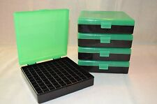 BERRYS PLASTIC AMMO BOX (5 PACK) ZOMBIE GREEN & BLACK 9MM / 380 ACP (100 rnd)