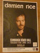 Damien Rice Edinburgh 2015 concert tour gig poster