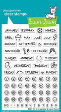 Lawn Fawn Clear Acrylic Stamps Plan on It Calendar  1177  2016