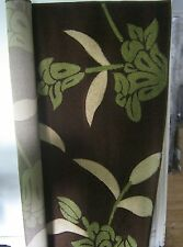 Floral Brown And Green Rug 160 x 225cm