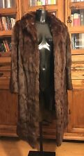 Vintage Genuine Real Fur Coat/Jacket Ladies Long Length Brown Stunning