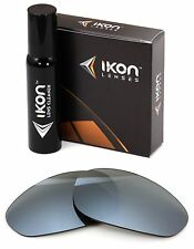 Polarized IKON Iridium Replacement Lenses For Oakley Straight Jacket 1999 Silver