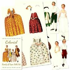 Shackman Colonial Victorian Family Paper Dolls And Clothes  #Shk-18