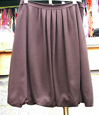 Joseph Ribkoff BNWT UK 10 Fabulous Chocolate Brown Puff-Ball Effect Skirt