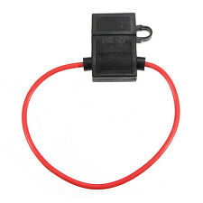 200mm 14 Gauge Medium ATC Fuse Holder In-line AWG Wire Copper 12V Power Blade