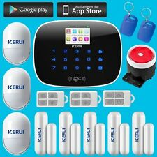 KERUI G19 Wireless Auto Dial GSM Home Security Alarm System,RFID Touch Keypad