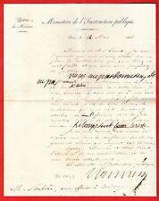 177-AUTOGRAPHE-SALVANDY-MINISTRE/LOUIS PHILIPPE-INSTRUCTION PUBLIQUE-GERS-1838