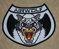 AIRWOLF HELICOPTER PILOT ,EMBROIDERED IRON-ON PATCH / BADGE / LOGO