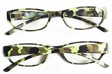 Camouflage Frame Reading Glasses Light Camo Readers Lens Strength: +3.50