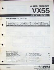 Original Yamaha VX55 Guitar Amplifier Service Manual Schematics Parts List Book