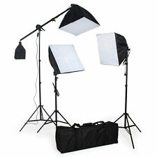 Kit de Photo Studio Eclaraige Softbox Trépied 135W Ampoule Boom Arm Avec Sac