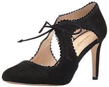 $89 size 6 Nine West Hypatia Black Suede Heels Pump Womens Dress Shoes NEW