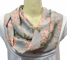 Liberty of London Handmade Silk Scarf, Pale Blue Archive Lilac Fabric