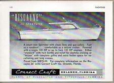 1955 Print Ad Correct Craft Boats 26' Biscayne Sportster Orlando,FL