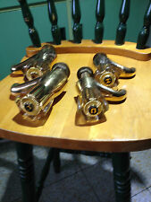 Quality Gold Plated pair of bath taps + 1pr of wash basin taps