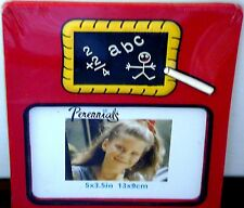 "MIP NEW PLASTIC BACK TO SCHOOL DAYS PICTURE FRAME 5"" X 3.5"" CHILD STUDENT PHOTO!"