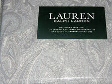 Ralph Lauren Blue Gray Paisley QUEEN Sheet Set--NWT