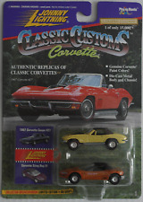 Johnny Lightning Corvette 2-Pack - ´67 Coupe 427 gelb + Sting Ray III braun