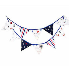 10.49ft Fabric Pirate Bunting Pennant Flags Banner Party Wedding Christmas Decor