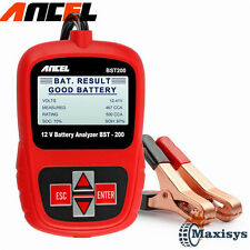 US 12V Car Battery Tester Vehicle Battery Analyzer AGM GEL ANCEL BST-200