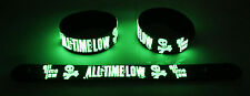 All Time Low  Glow in the Dark Rubber Bracelet Wristband Something's Gotta Give