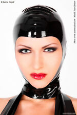 Masque Cagoule Mixte Latex Noir Visage Ouvert Black Hood with Face Opening