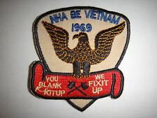 Vietnam War Patch US Navy MAINTENANCE Group At NHA BE 1969 YOU BLANK F-CK IT UP