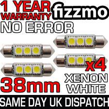 4x 38mm 239 272 SV8.5 6000k BRIGHT WHITE 3 SMD LED FESTOON LIGHT BULB ERROR FREE