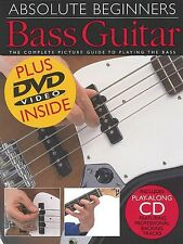 Absolute Beginners: Bass Guitar - Book CD DVD Value Pack NEW 014001026