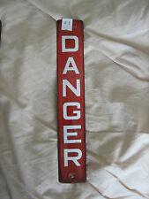 Vintage Enamel Danger Sign   1930/40 #9