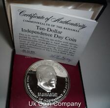 1974 Bahamas Independence Silver Proof $10 Ten Dollars Coin