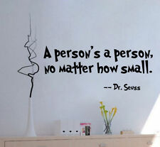 A Person's A Person Vinyl Art Quote Wall Sticker Home Wall Words Letters Decor