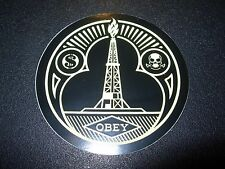"""SHEPARD FAIREY Obey Giant Sticker 2.5"""" CIRCLE OIL TOWER from poster print"""