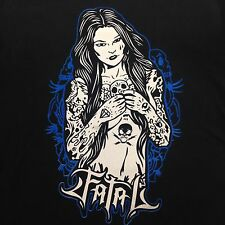 Fatal Clothing Tattoo Pin Up Sexy Girl Skull T-Shirt Size X-Large XL