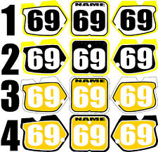 1989-1992 Suzuki RM125 250 RM 125 250 Number Plates Side Panels Graphics Decal